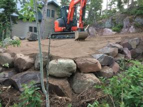 Retaining Wall New Parking Lot